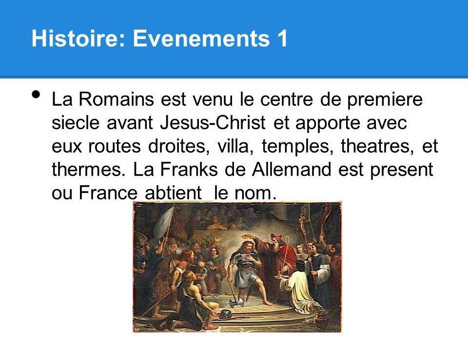 Histoire: Evenements 1