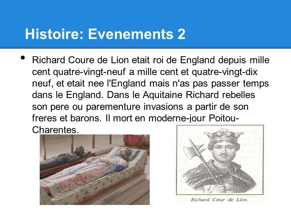 Histoire: Evenements 2