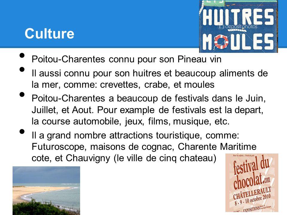 Culture Poitou-Charentes connu pour son Pineau vin