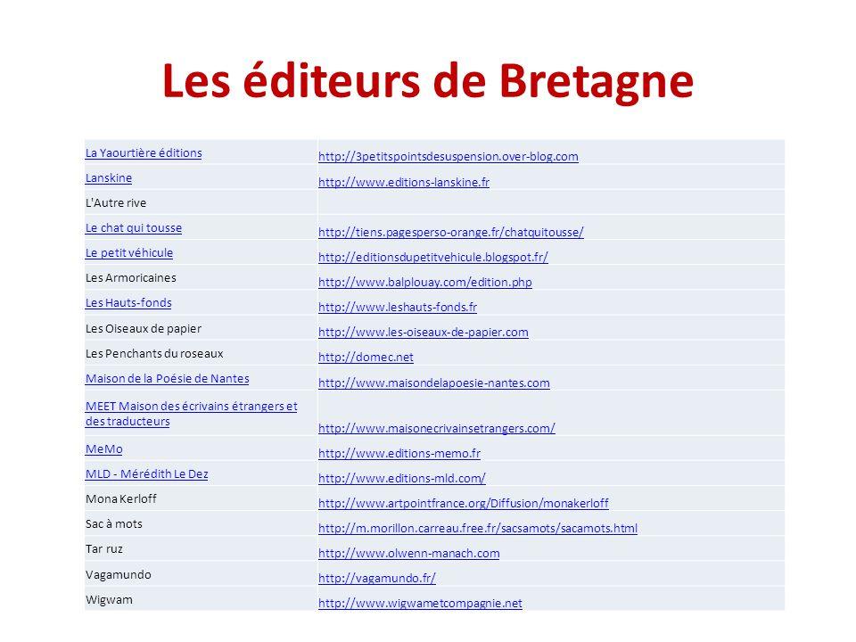 Les éditeurs de Bretagne