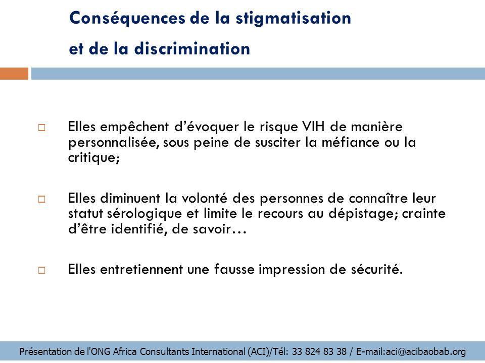 Conséquences de la stigmatisation et de la discrimination