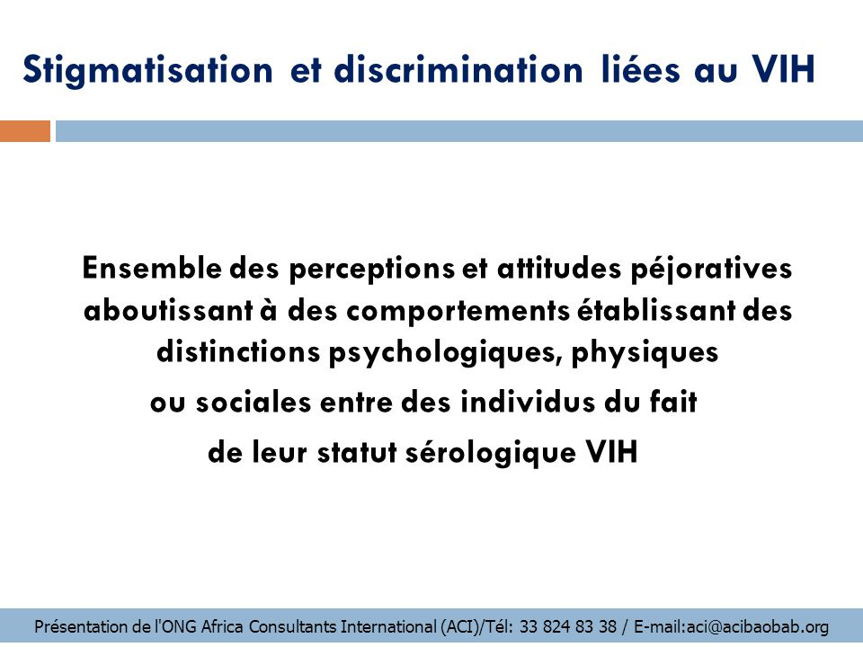 Stigmatisation et discrimination liées au VIH