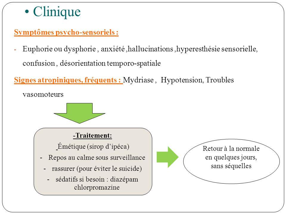 Clinique Symptômes psycho-sensoriels :