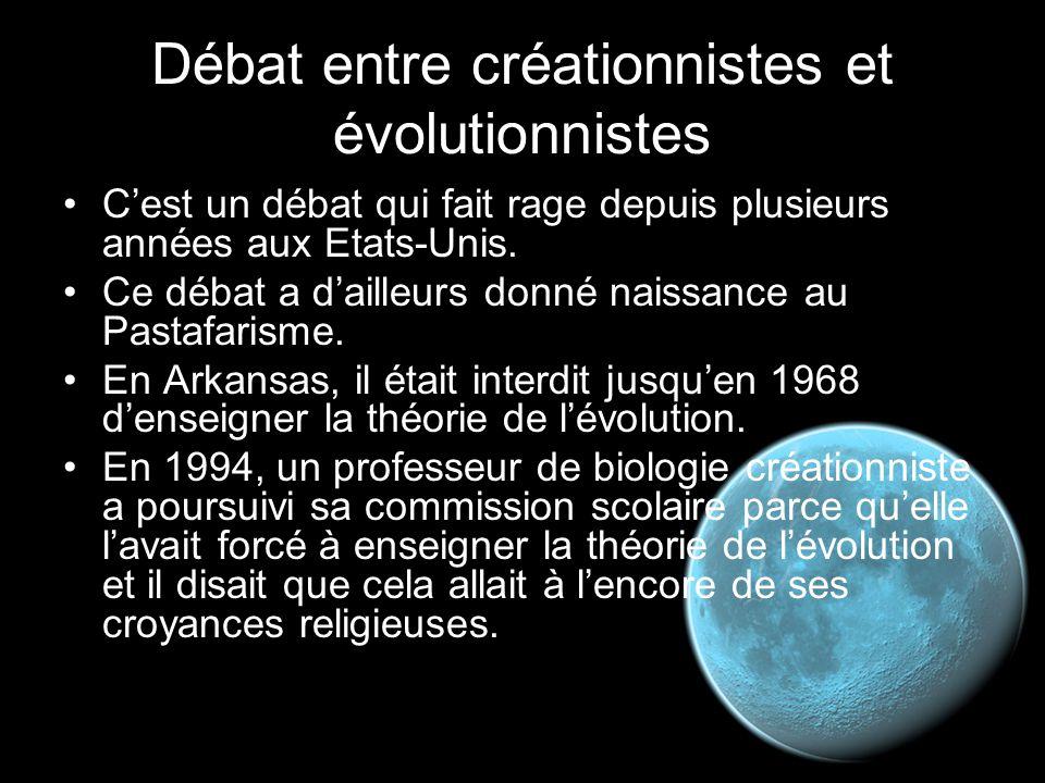 Débat entre créationnistes et évolutionnistes