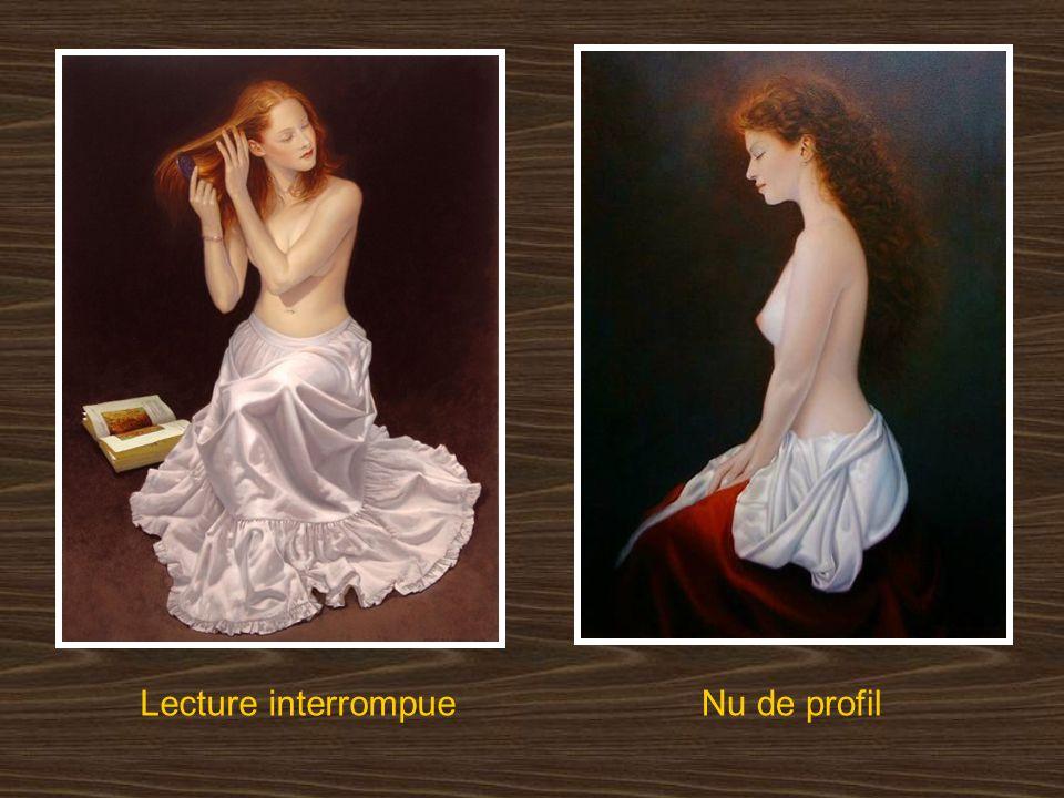 Lecture interrompue Nu de profil