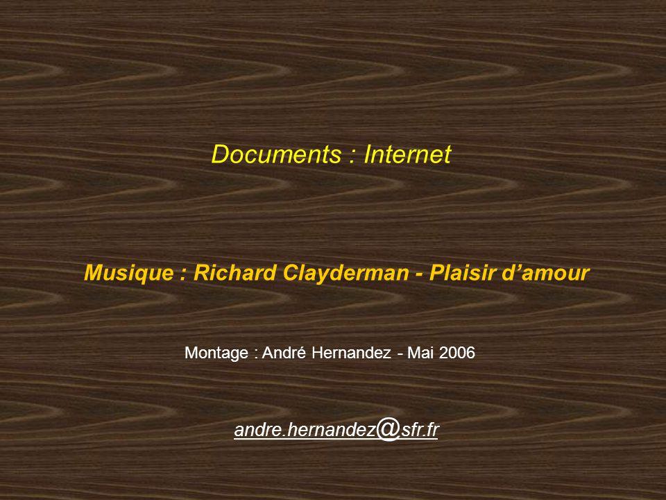 Musique : Richard Clayderman - Plaisir d'amour
