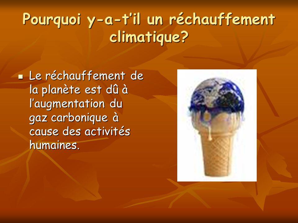 Pourquoi y-a-t'il un réchauffement climatique