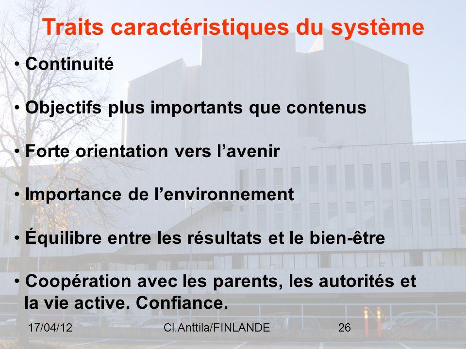 Traits caractéristiques du système
