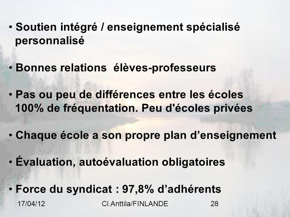 Soutien intégré / enseignement spécialisé personnalisé