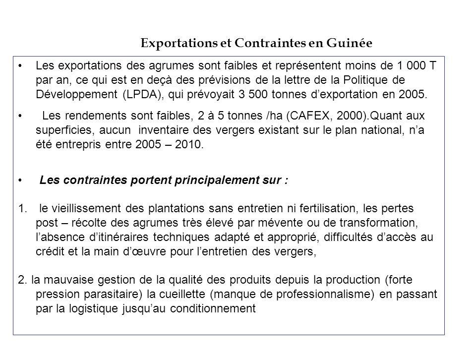Exportations et Contraintes en Guinée