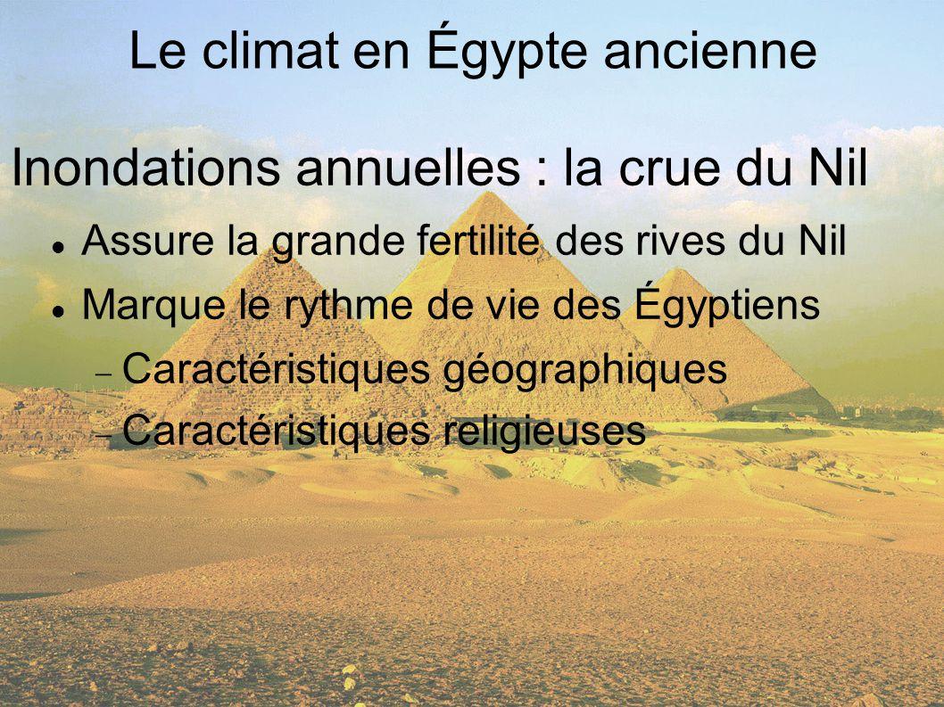 Le climat en Égypte ancienne