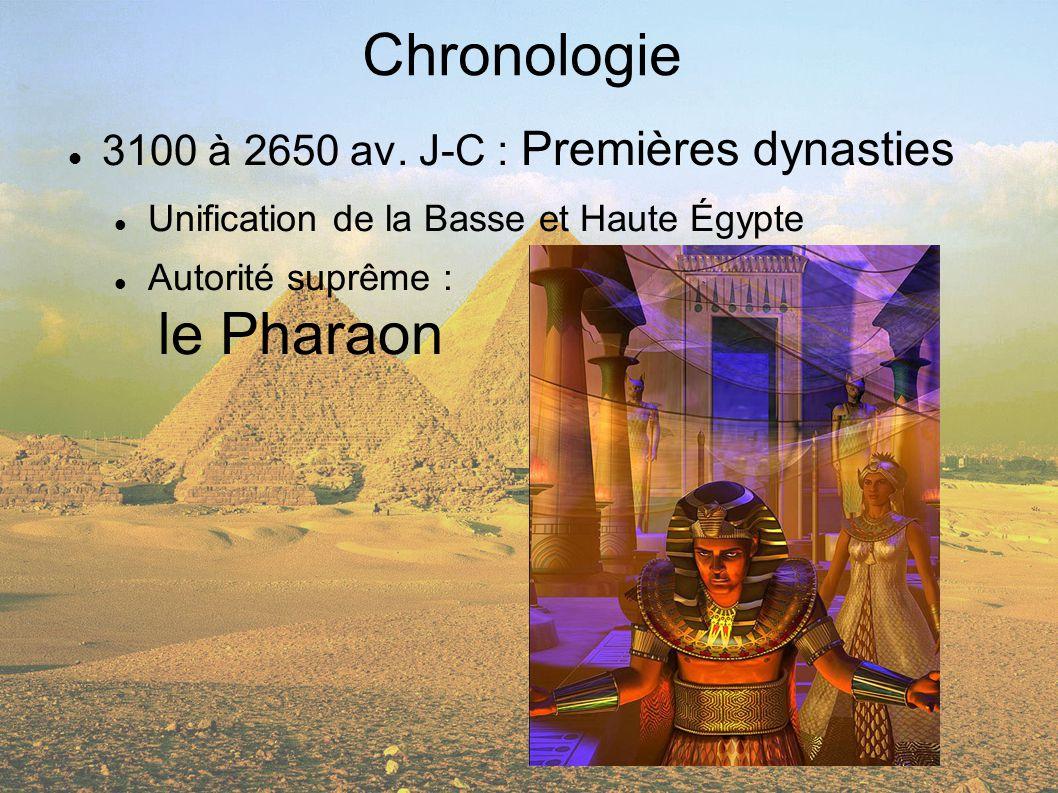 Chronologie 3100 à 2650 av. J-C : Premières dynasties
