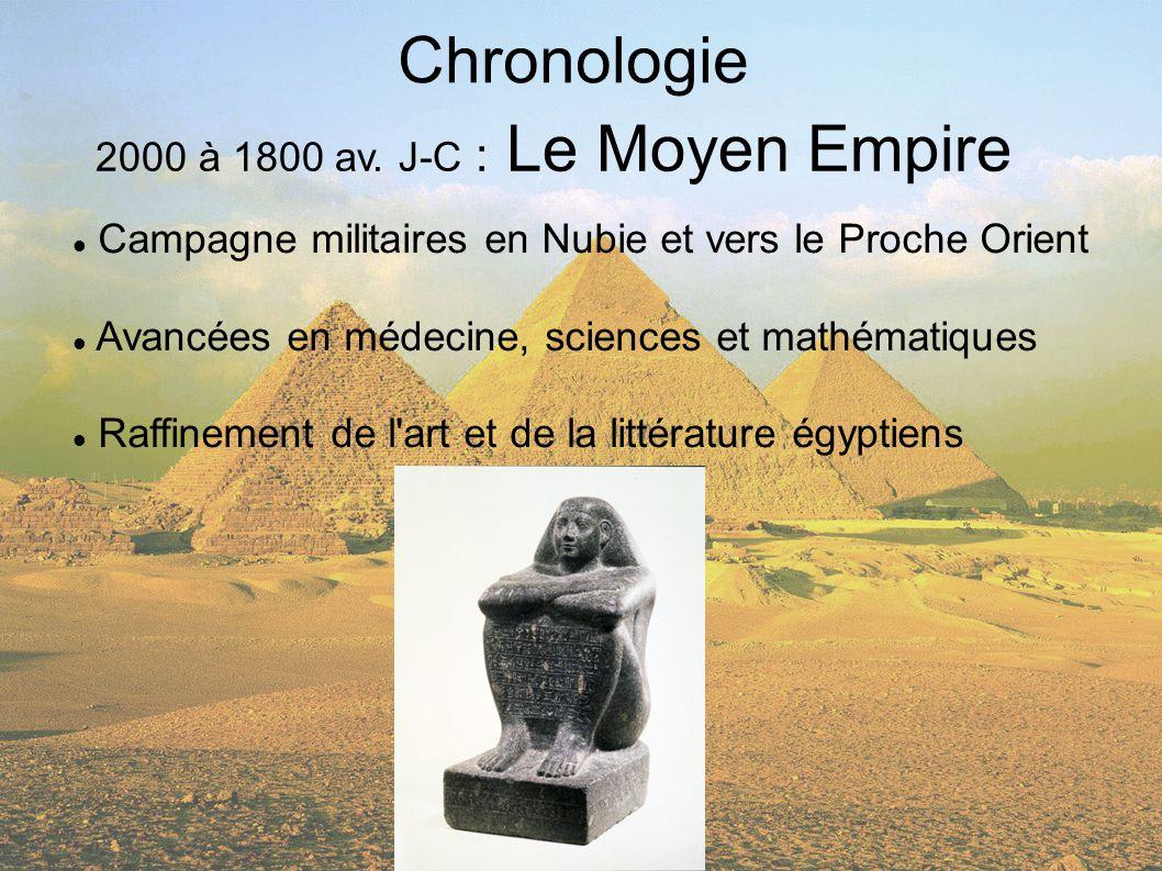 Chronologie 2000 à 1800 av. J-C : Le Moyen Empire