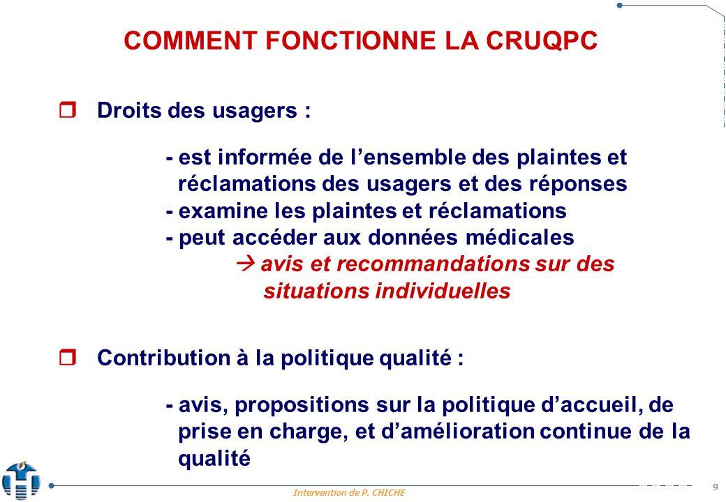 COMMENT FONCTIONNE LA CRUQPC