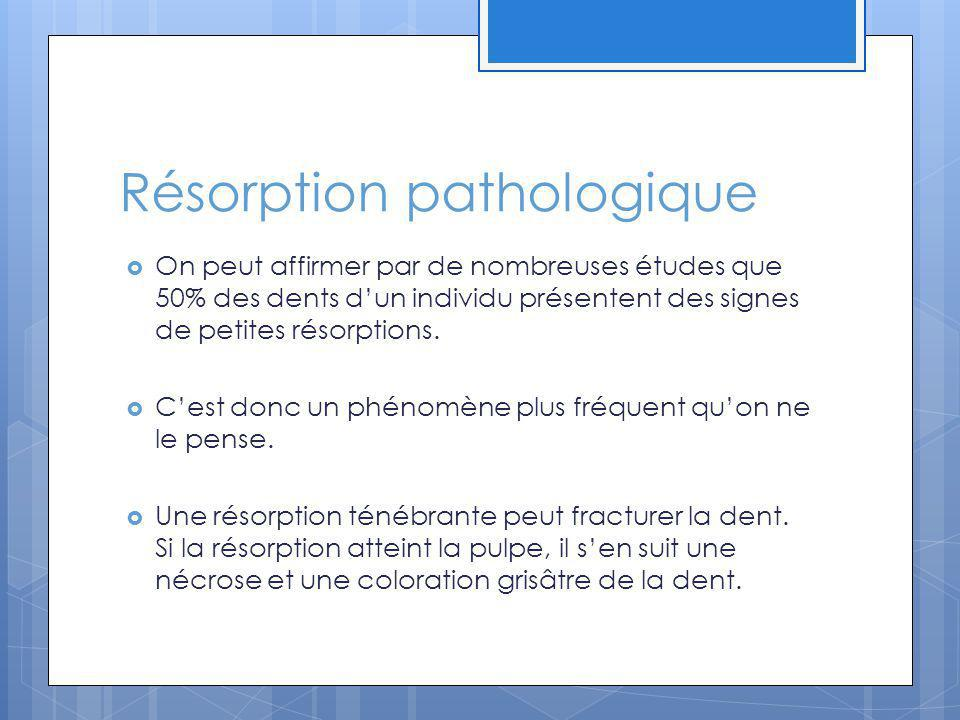 Résorption pathologique