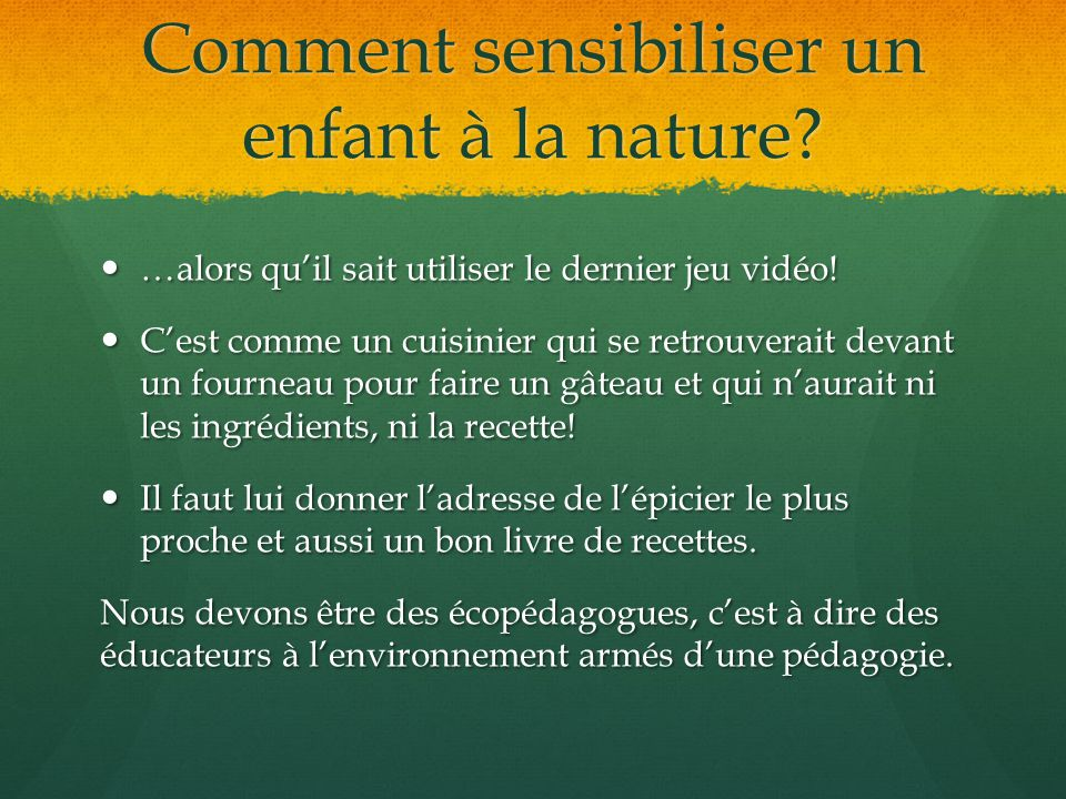 Comment sensibiliser un enfant à la nature
