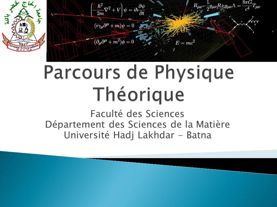Parcours de Physique Théorique