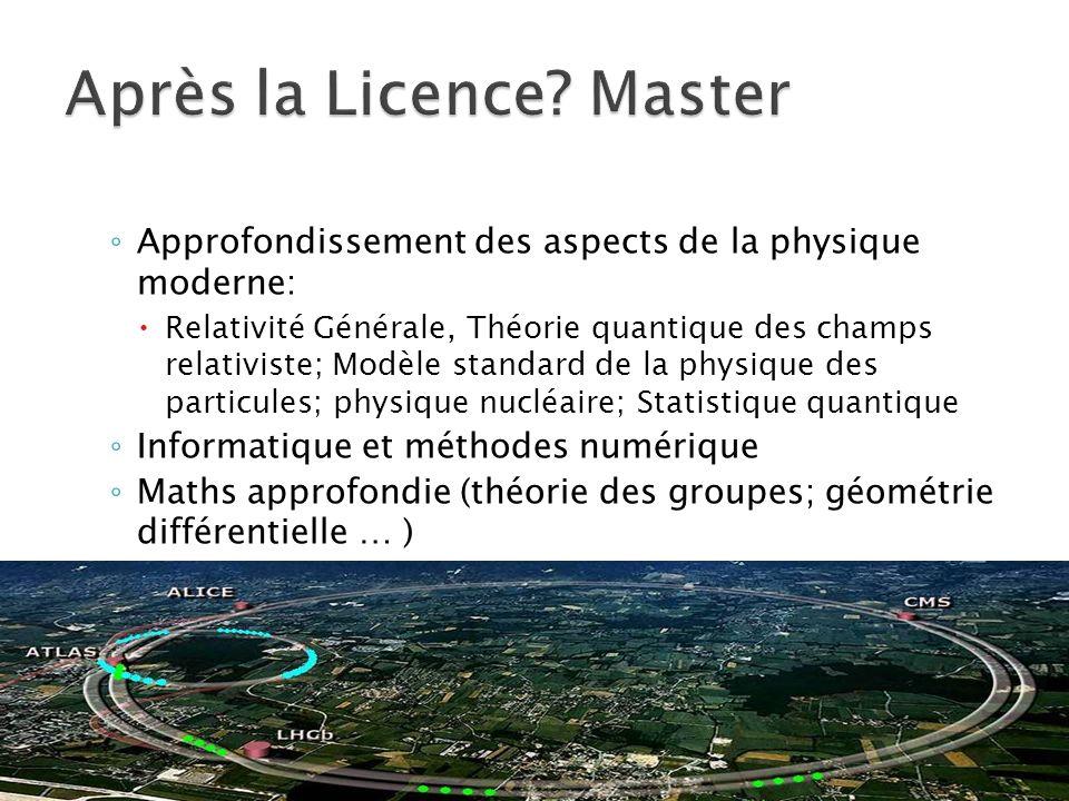 Après la Licence Master