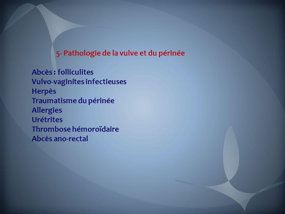 5- Pathologie de la vulve et du périnée