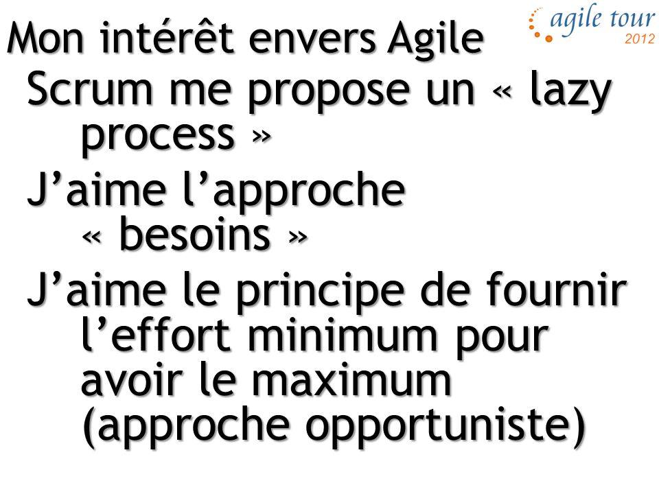 Mon intérêt envers Agile