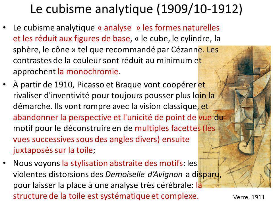 Le cubisme analytique (1909/10-1912)