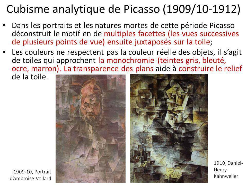 Cubisme analytique de Picasso (1909/10-1912)
