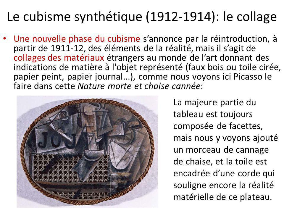 Le cubisme synthétique (1912-1914): le collage