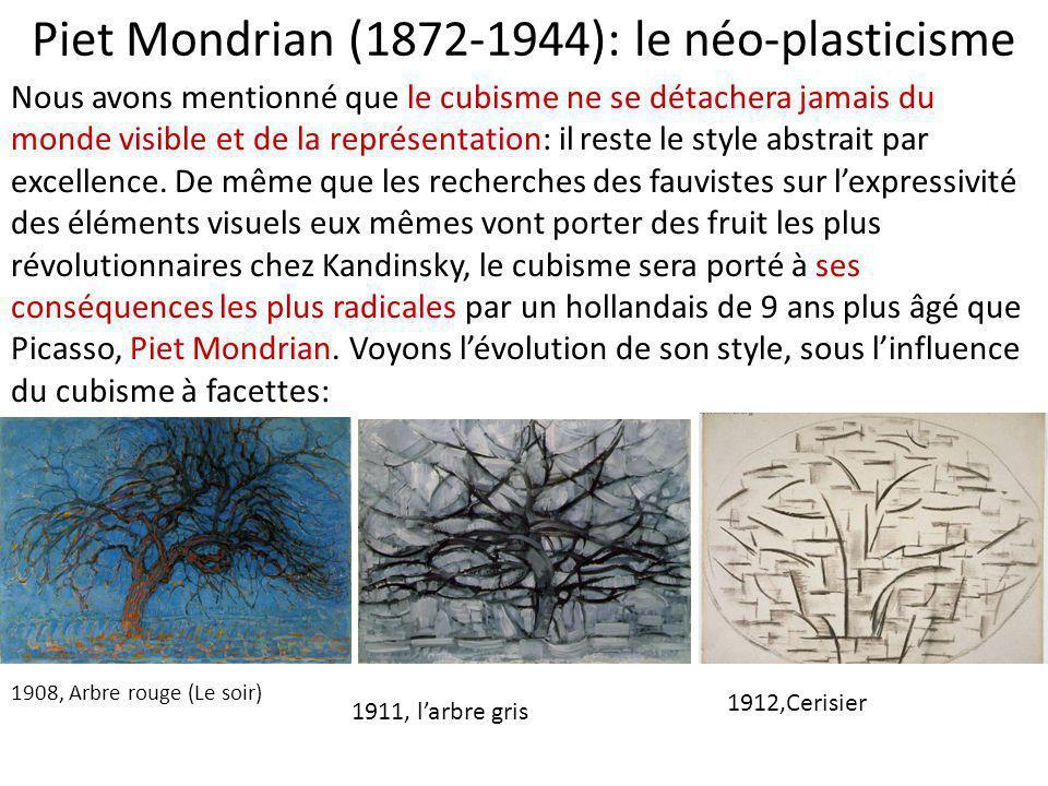 Piet Mondrian (1872-1944): le néo-plasticisme