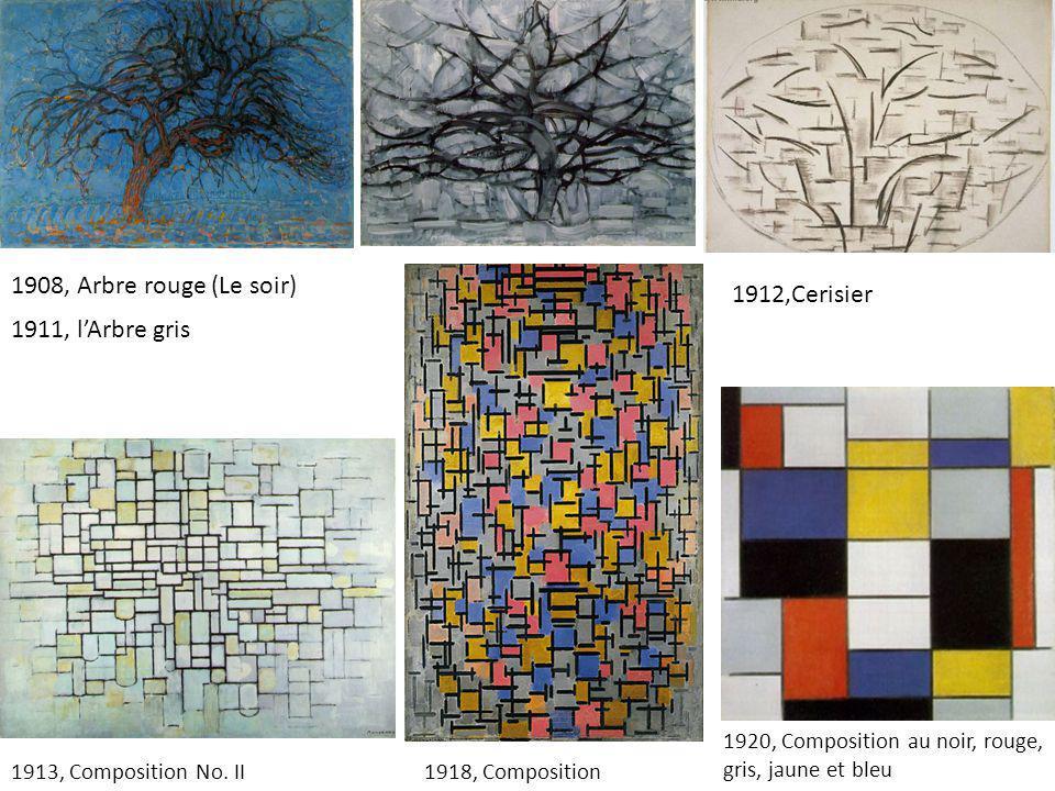 1908, Arbre rouge (Le soir) 1912,Cerisier 1911, l'Arbre gris