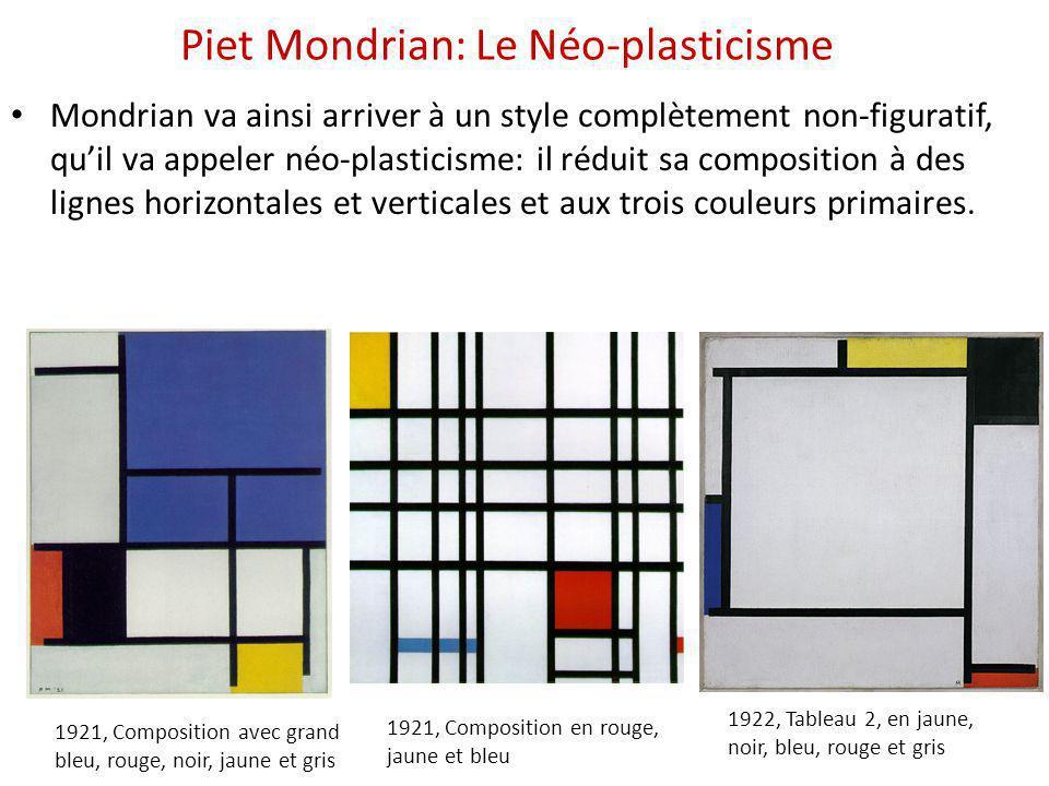 Piet Mondrian: Le Néo-plasticisme