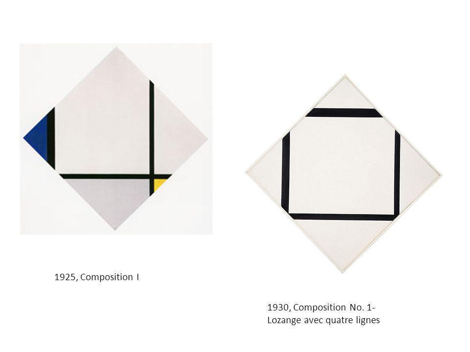 1925, Composition I 1930, Composition No. 1- Lozange avec quatre lignes