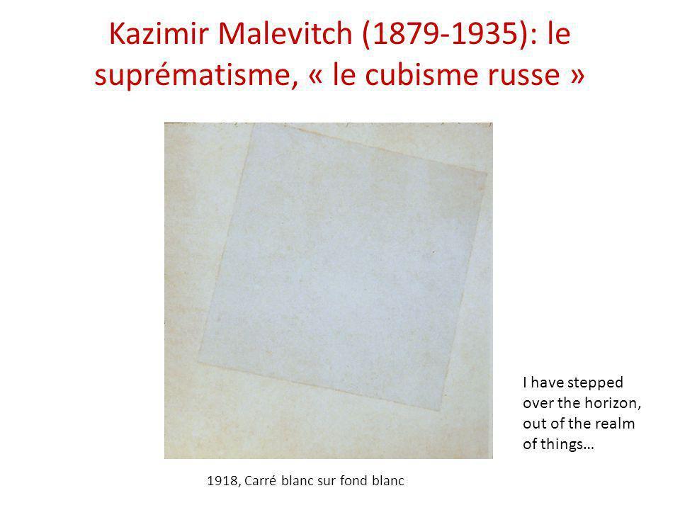 Kazimir Malevitch (1879-1935): le suprématisme, « le cubisme russe »