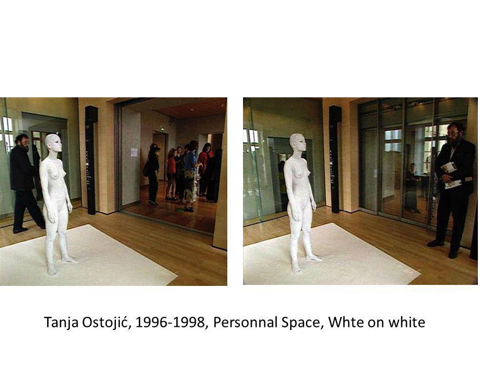 Tanja Ostojić, 1996-1998, Personnal Space, Whte on white