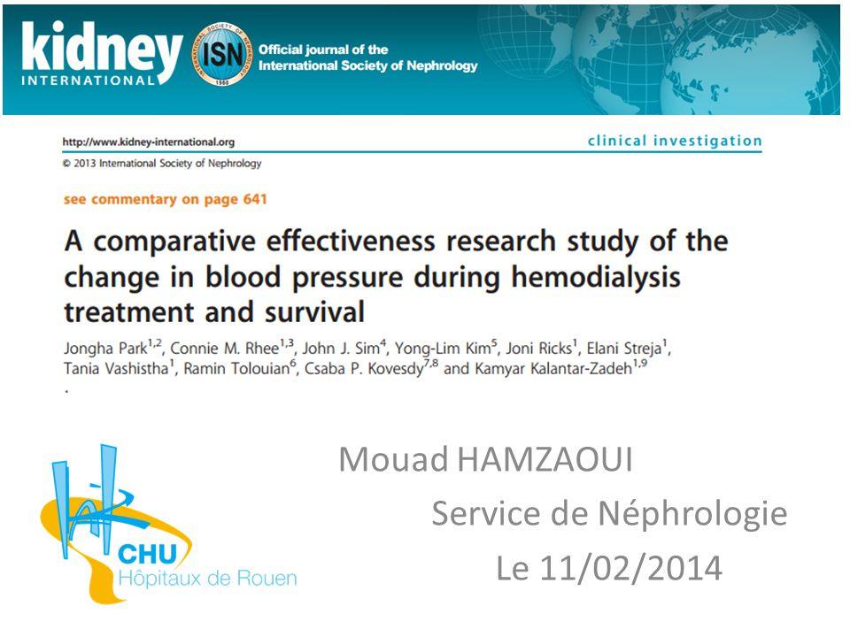 Mouad HAMZAOUI Service de Néphrologie Le 11/02/2014