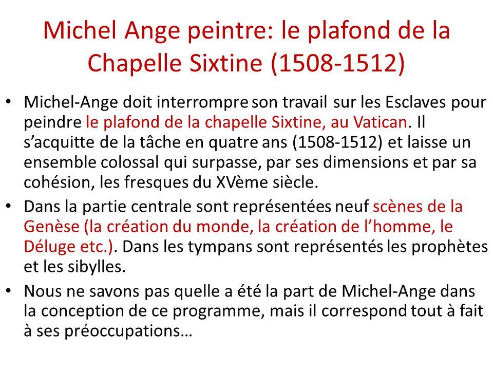 La haute renaissance en italie michel ange ppt - Fresque du plafond de la chapelle sixtine ...