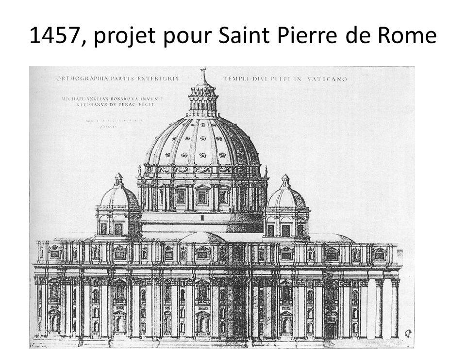 1457, projet pour Saint Pierre de Rome