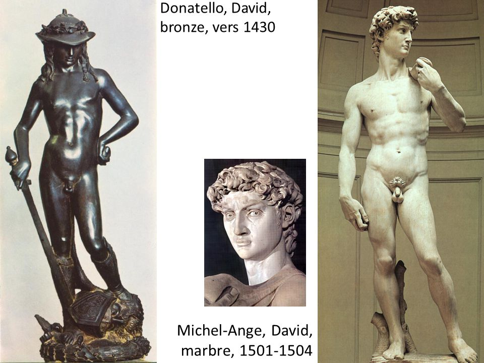 Donatello, David, bronze, vers 1430