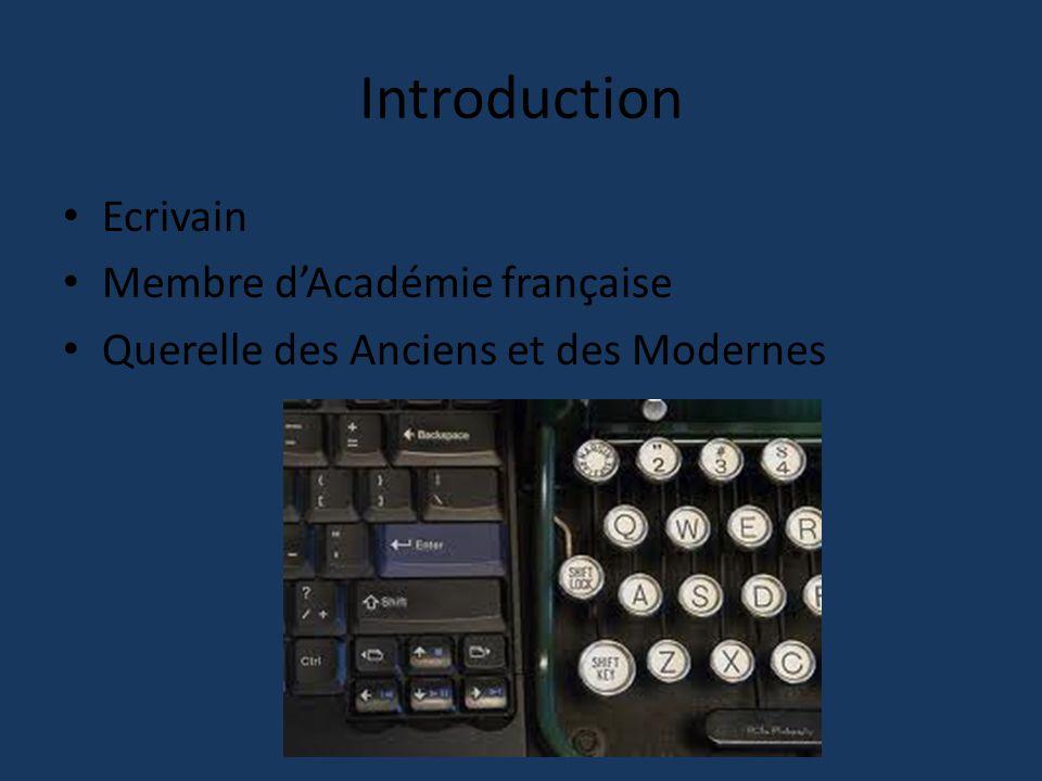 Introduction Ecrivain Membre d'Académie française
