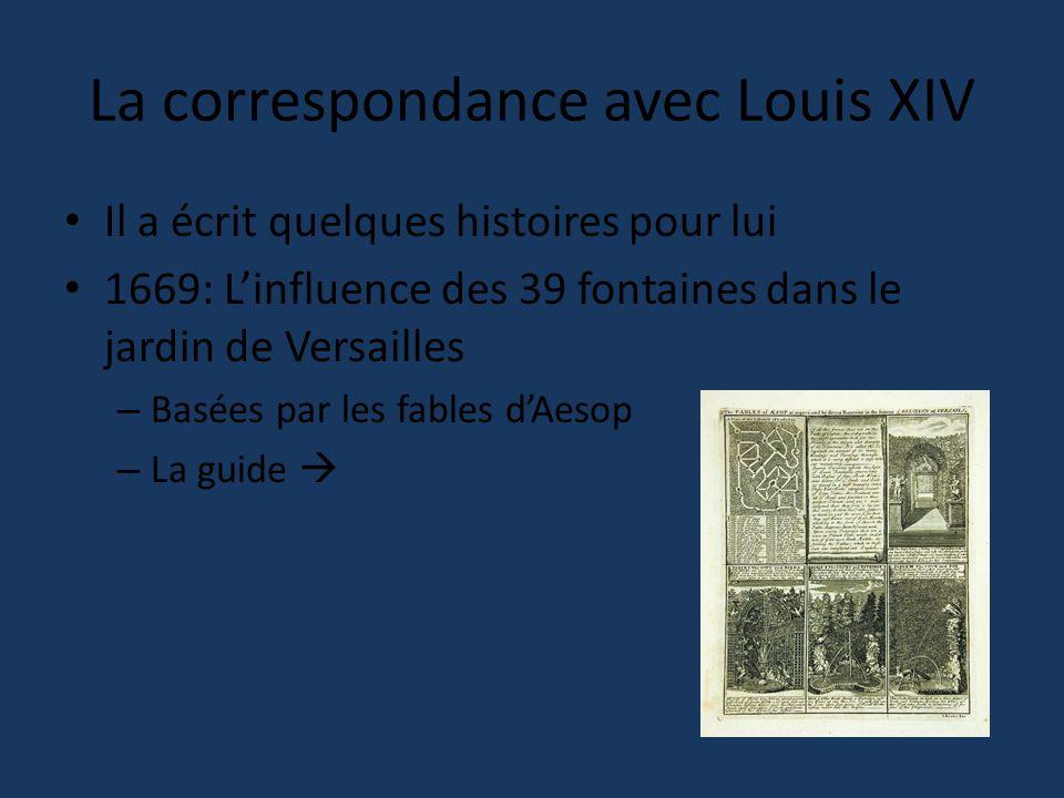 La correspondance avec Louis XIV