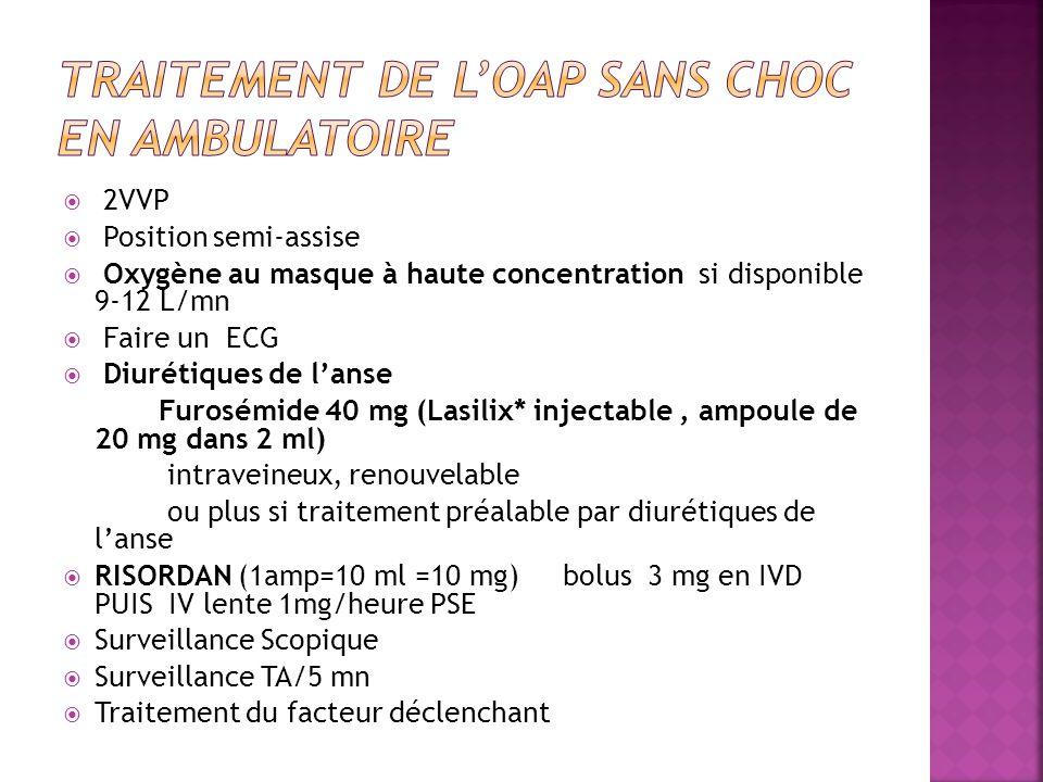 Traitement de l'OAP sans choc en ambulatoire