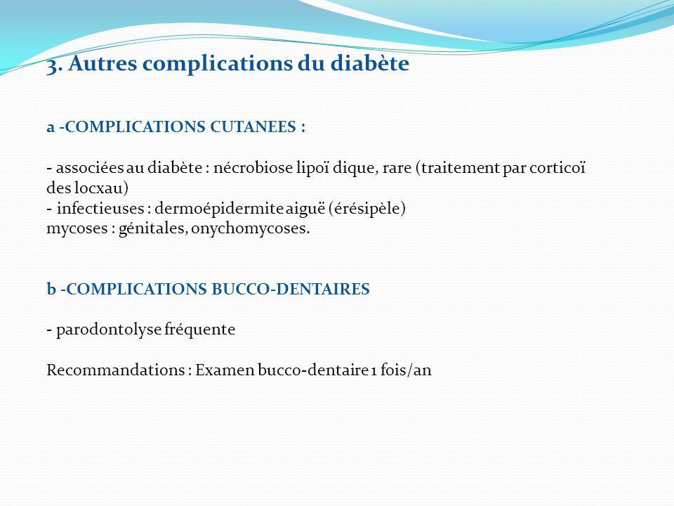 3. Autres complications du diabète
