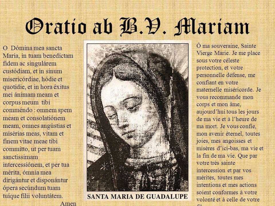 Oratio ab B.V. Mariam