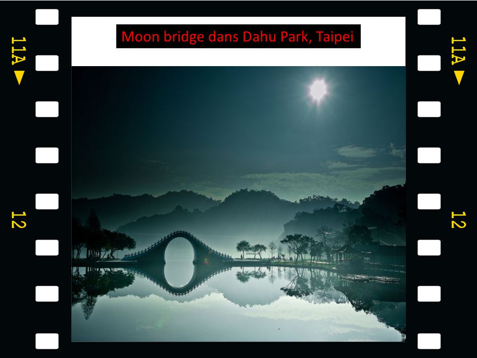 Moon bridge dans Dahu Park, Taipei