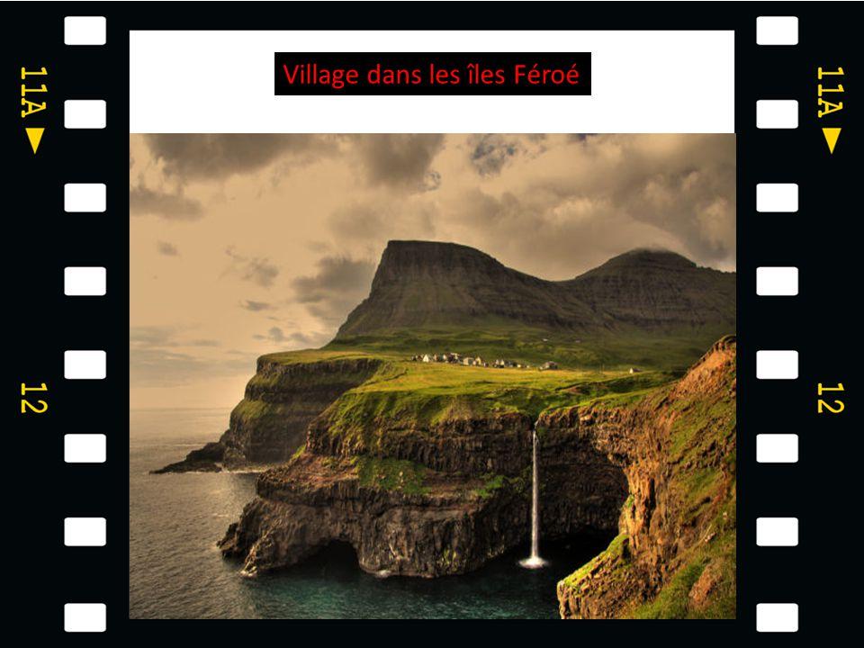 Village dans les îles Féroé