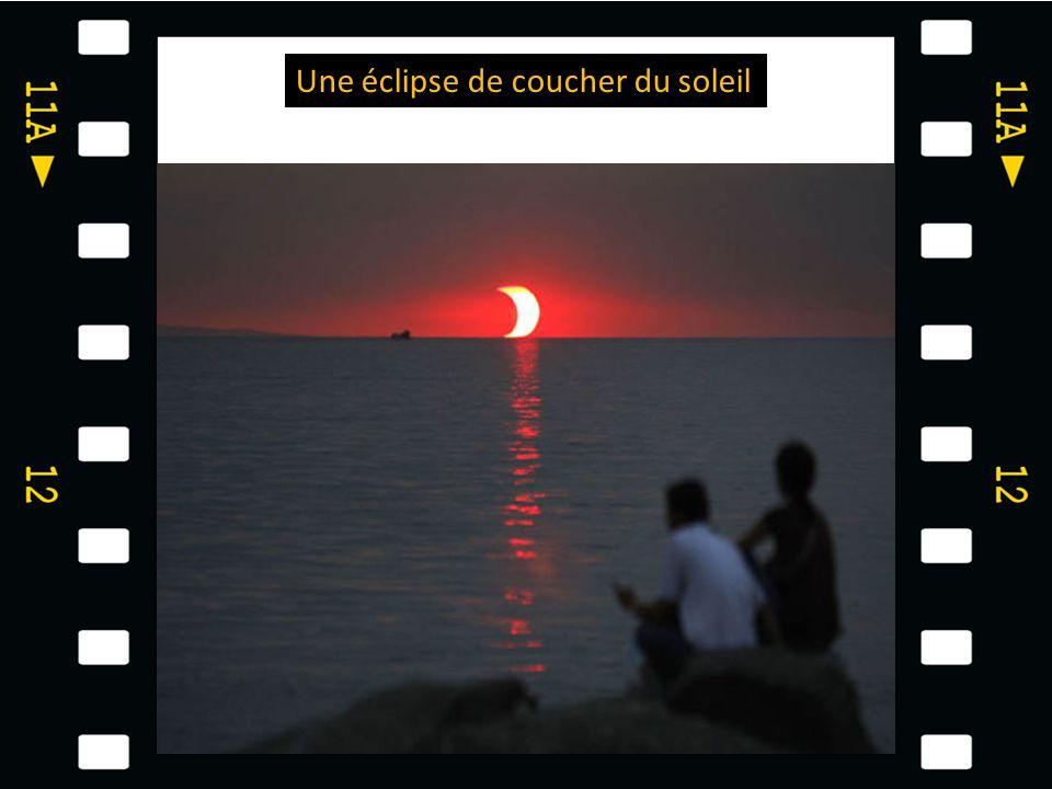 Une éclipse de coucher du soleil