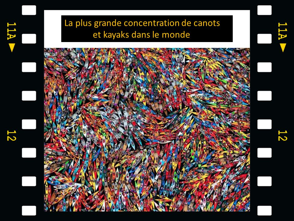 La plus grande concentration de canots