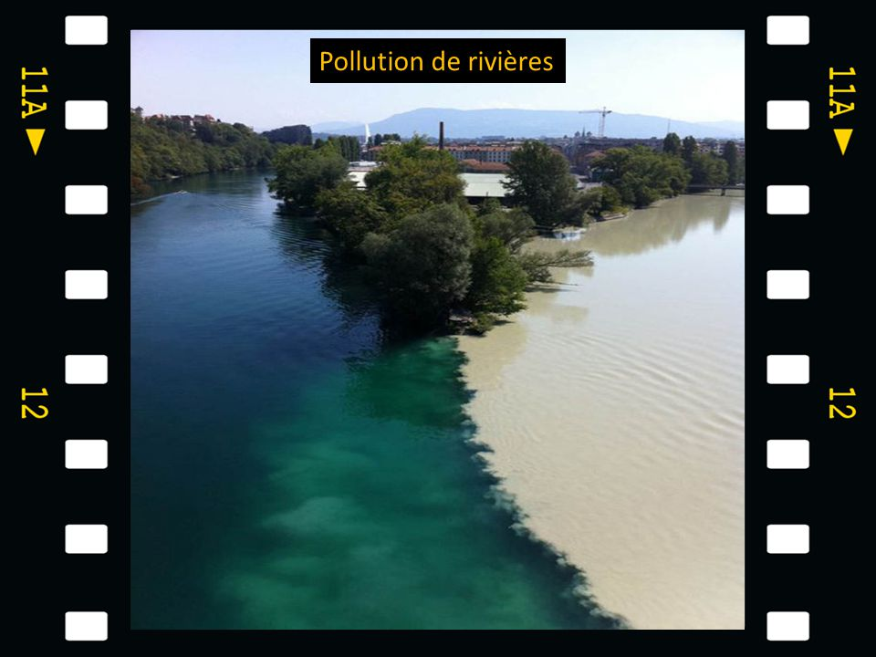 Pollution de rivières