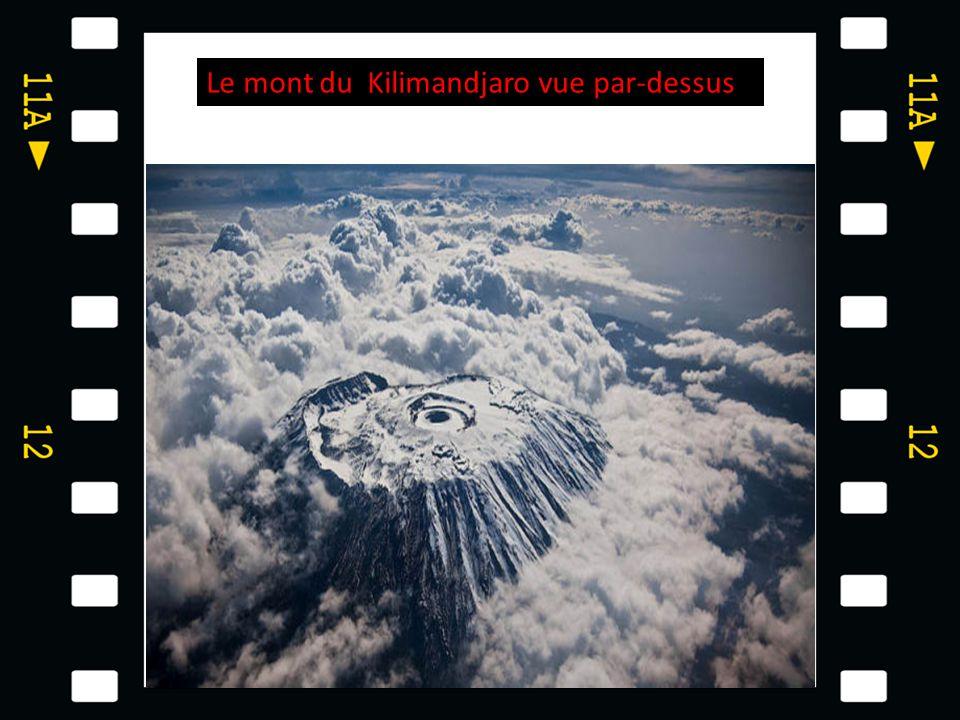 Le mont du Kilimandjaro vue par-dessus