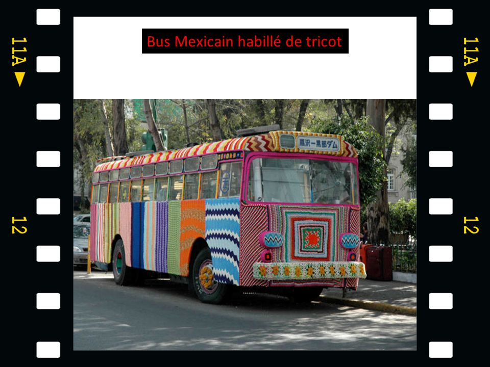 Bus Mexicain habillé de tricot