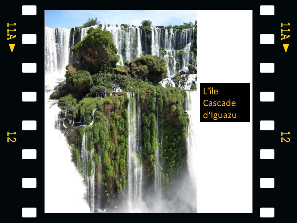 L île Cascade d'Iguazu